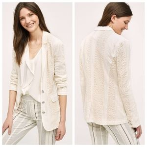 Anthropologie Cartonieer Lupe Lace Blazer